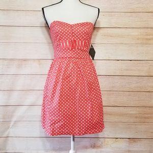 BeBop pink polka dot dress
